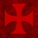 Croix pattée fond rouge